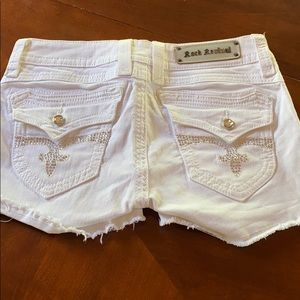 Rock Revival white shorts